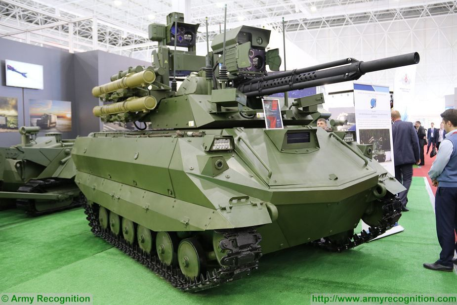 The United Arab Emirates is interested to purchase Russian-made Uran-9 UGV (Unmanned Ground Vehicle), Dmitry Shugaev, director of the Federal Service for Military-Technical Cooperation (FSMTC), told TASS. The Uran-9 is an armed Unmanned Ground Vehicle (UGV) designed, developed and manufactured by the Russian defense company 766th UPTK.