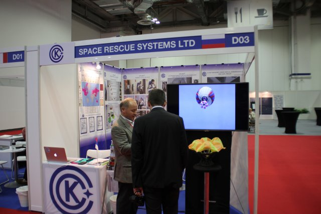 Russian company Space Rescue Systems highlights its innovative Rescue Chute System at APHS 640 002