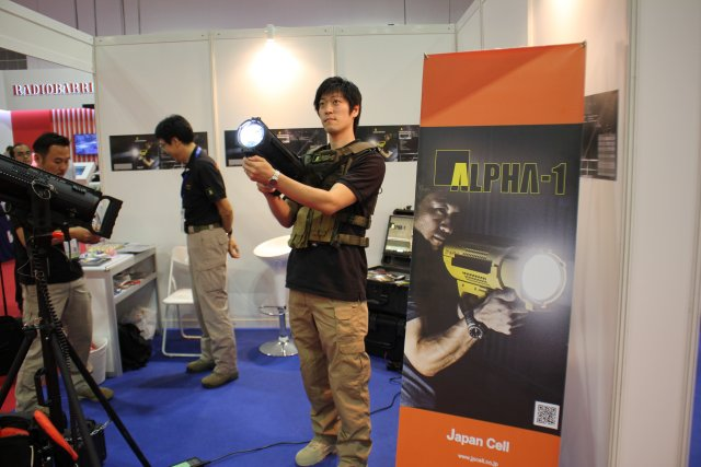 Japan Cell presents its new ALPHA 1 portable searchlight illumination at APHS 2015 640 001
