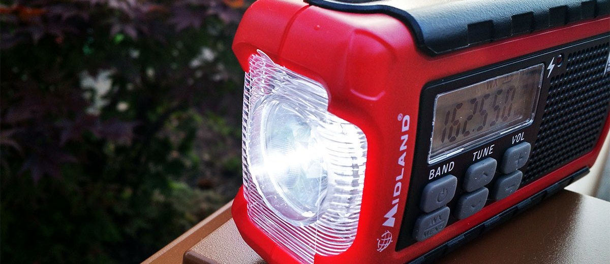 Flashlight of Midland ER200 Emergency Weather Radio