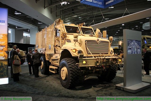 Latest MaxxPro MRAP with blast protection and Electronic Stability Control of Navistar Defense 640 001