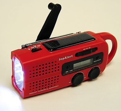 Topalert MD-019 Solar Emergency Radio