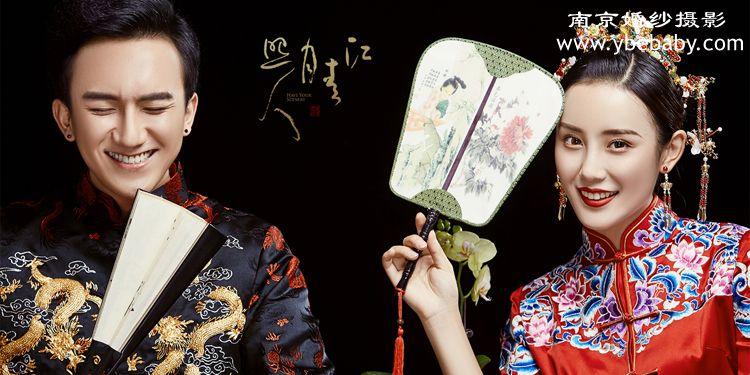 尽显古典东方韵味的中式礼服婚纱照图片