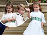 Princess Charlotte and Prince George attended the Royal Wedding in Windsor yesterday