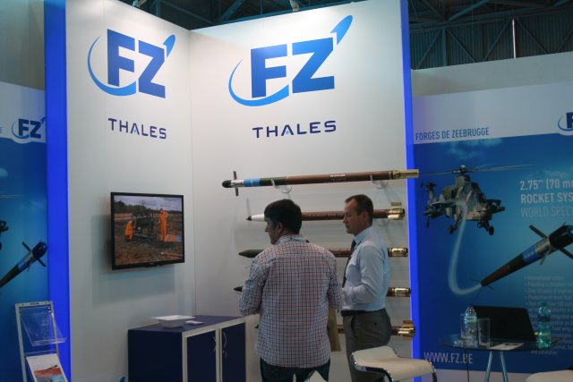 FZ showcases FZ rocket system 2 75 70mm during AAD 2016 at Waterkloof Air Base 640 001