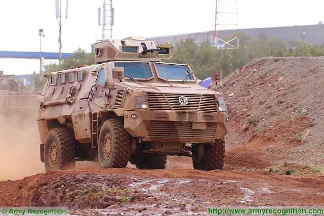 MBombe 4 Paramount Group MRAP live demonstration AAD 2016 defense exhibition South Africa 001