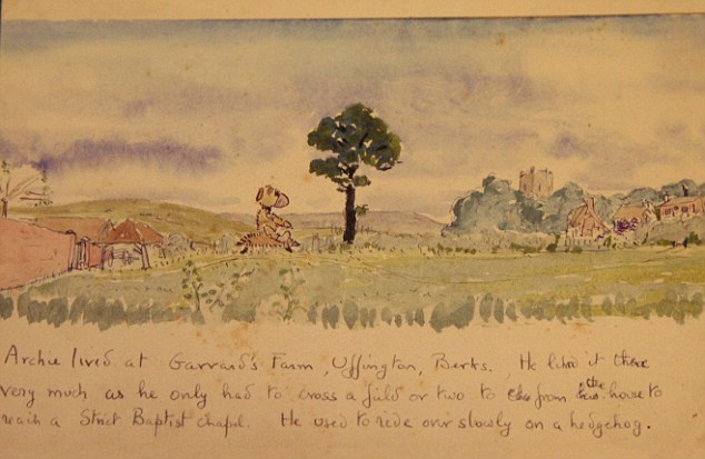 Rare: The museum will also feature print from one of Betjeman's books