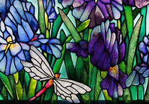 Stained glass from ancient to modern Mosaic