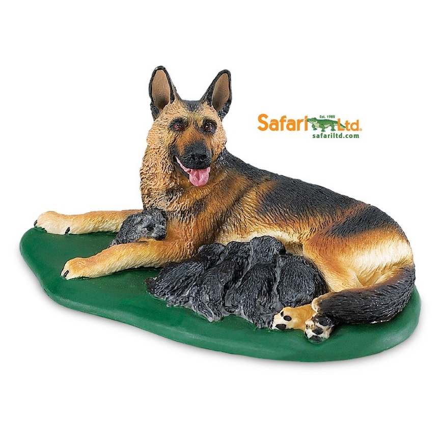 German Shepard Dog with Pups Vinyl Figure