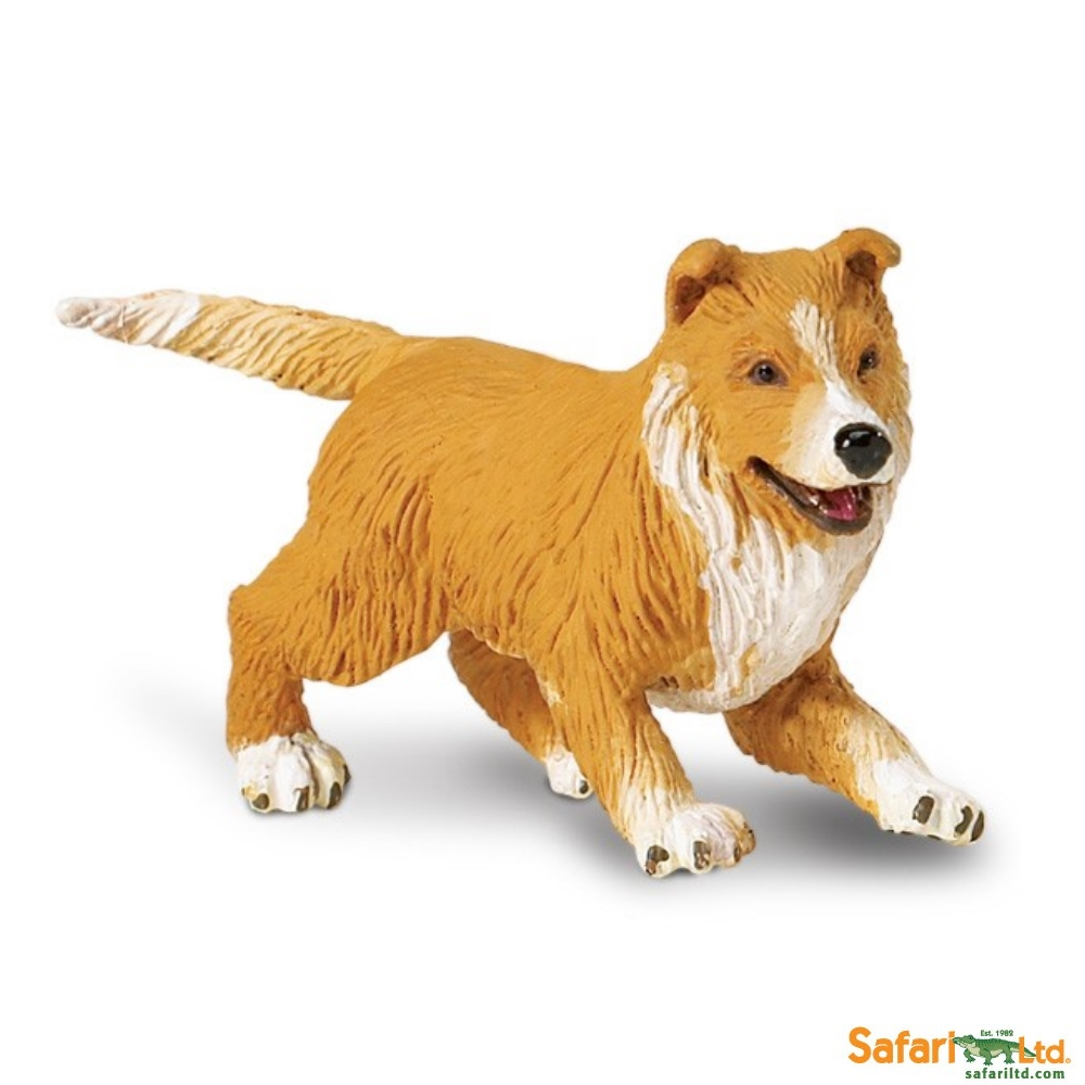 Collie Puppy Dog Vinyl Figure