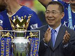Vichai Srivaddhanaprabha poses with the Premier League trophy after Leicester's 2016 title