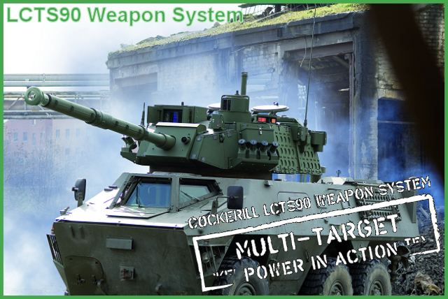 LCTS90  weapon system 90 mm turret armoured armored cockerill gun vehicle design development production manufacturer Belgium Belgian industry CMI Defence