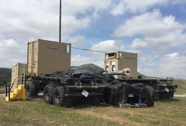 General Atomics demonstrated its Blitzer railgun at US Army s MFIX