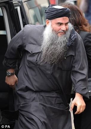 Arrested: Abu Qatada has been arrested for allegedly breaching his bail conditions hours after his home was raided by counter-terror police