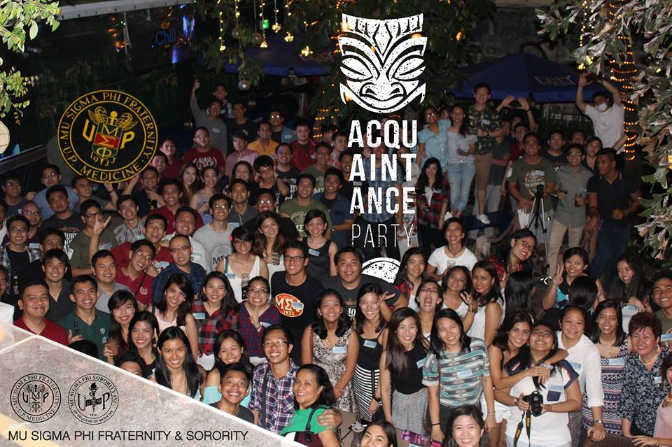 Acquaintance Party (2016 January 29)