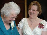 Wendy Cook (right) with Jean Weddell. They became civil partners in 2007 and Ms Weddell sold her house a year later
