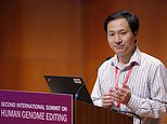 Chinese scientist He Jianjui speaks at theSecond International Summit on Human Genome Editing at the University of Hong Kong on Wednesday. His whereabouts remain unknown after the summit, according to media reports
