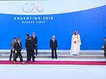 Footage shows Saudi Crown Prince Mohammed bin Salman being  ignored by world leaders as they gathered for a photo at G20