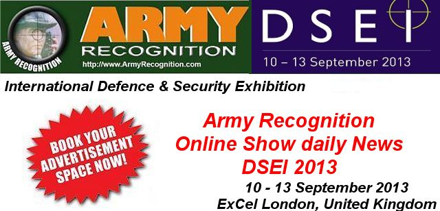 Your advertising in the online daily news DSEI 2013 Army Recognition for request Click here