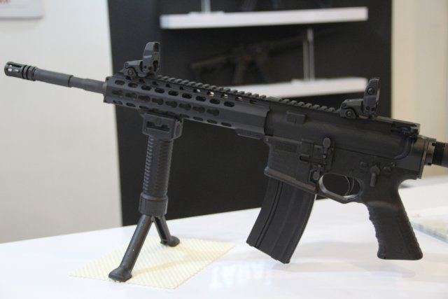 Tara Perfection from Montenegro exhibits its new TM 9  and TM M4A1 assault rifle at DSA 2016 640 002