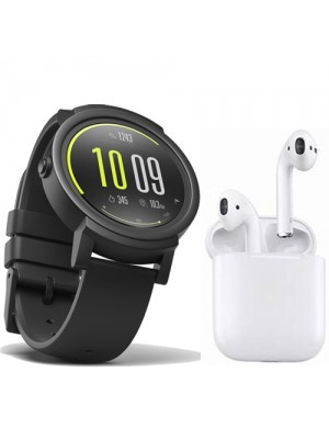Discovery Smart Watch With Camera + EarPod Twins (Dual - Left + Right) compatible with both Android & IOS + Smart Charging Box