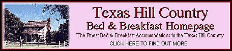Texas Hill Country Bed & Breakfast Homepage