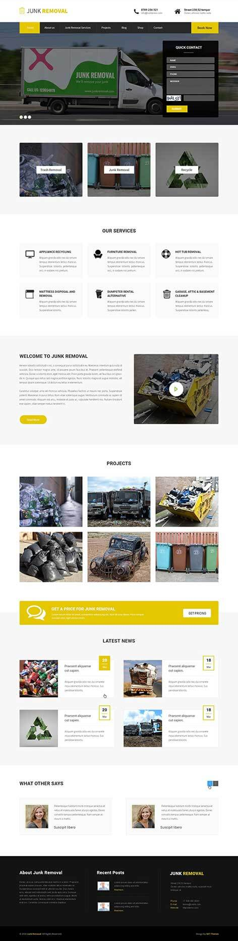 waste management WordPress theme