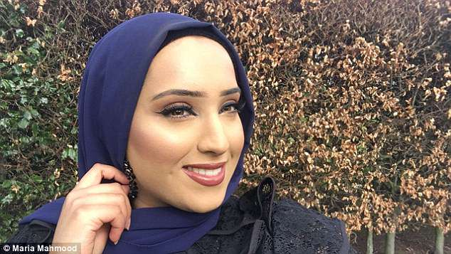Empowering: The aspiring social worker said she is proud to 'wear her Muslim identity'