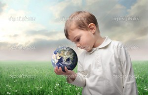 Earth in a hand