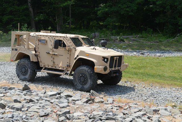 An U.S. infantry brigade combat team of the 10th Mountain Division will be the first unit to get the new Joint Light Tactical Vehicles, or JLTVs, around January 2019 once full-rate production kicks in, said Col. Shane Fullmer.