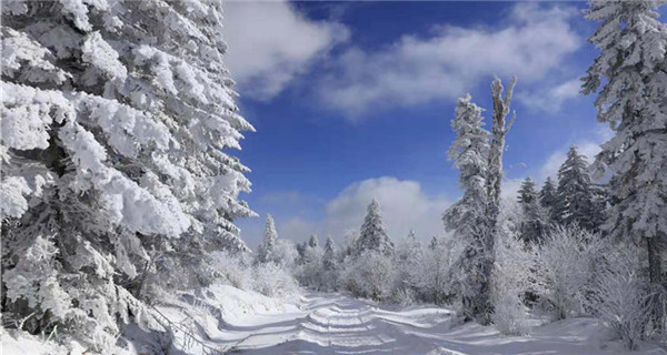Winter wonderland in Laoling mountain range