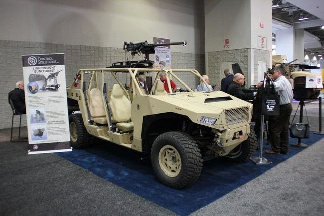 Control Solutions offers its Light Weight Gun Turret on Polaris Dagor 4x4 all-terrain vehicle 640 001