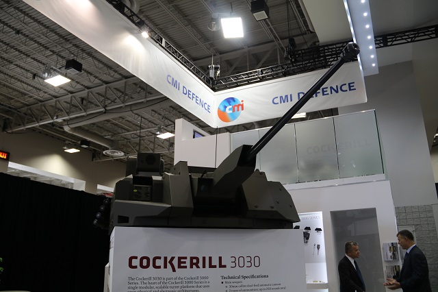 CMI Cockerill 3030 turret AUSA 2016