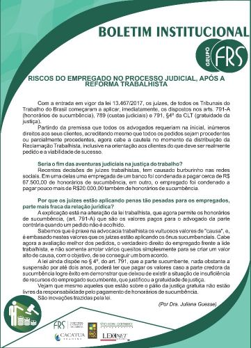 Boletim Institucional Grupo FRS