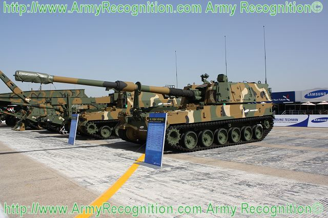 K9 Thunder self-propelled howitzer 155 MM South Korea South Korean Army 640
