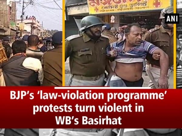 BJP's 'law-violation programme' protests turn violent in WB's Basirhat