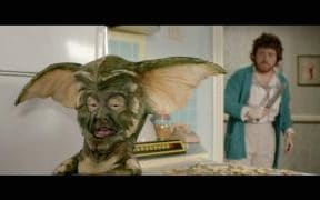 A gremlin (Les Dennis) is pursued by Lynn (Keith Lemon), in the latest Keith & Paddy Picture Show
