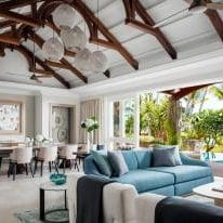 The main living room at Villa One at One&Only Le Saint Géran