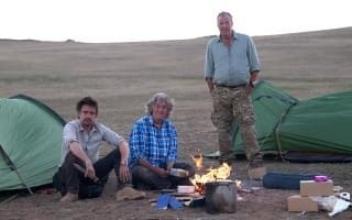 Richard Hammond, James May and Jeremy Clarkson in Mozambique, filming series 3 of The Grand Tour