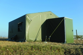 Utilis TMV Shelter was designed as accommodation, office and workshop applications for use in medium-long term camp deployments.