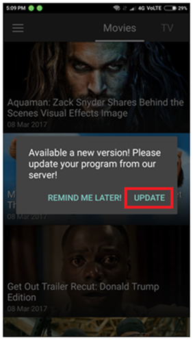 Update Showbox latest version