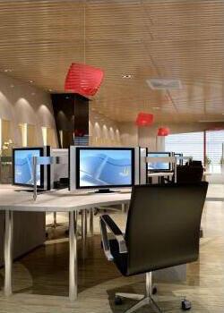 机电设备企业创意办公装修设计