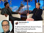 Rob Schneider tweeted that he supported Ellen DeGeneres for saying she wanted him to host the Oscars, calling her 'a voice of reason in a world of idiots' on Friday