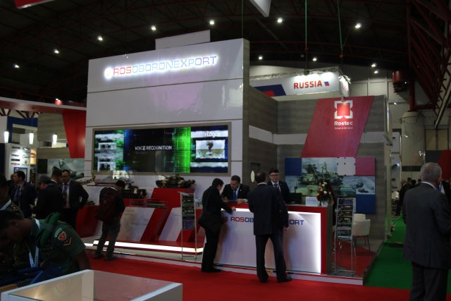 At Indodefence 2016 Rosoboronexport coordinates the Russian display