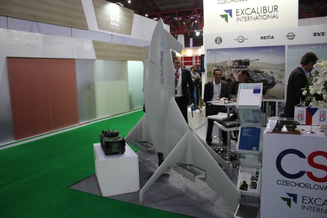 The Czech Excalibur International unveils for the first time its UAV Cantas at Indodefence 2016 001