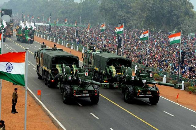 New Dhanush 155mm towed howitzer made first appearance at 68th India Republic Day Parade 640 001