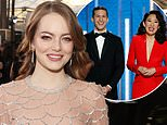 Emma Stone shouted 'I'm sorry!' during the Golden Globes after host Sandra Oh cracked about a movie she starred in in which she played an Asian American