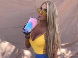 A glamorous rev-head known for partying with her identical-looking daughters has been spotted at car festival Summernats (Pictured: Jazmyne Wardell)