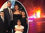 The Abbas family (Issam Abbas, 42, his wife, Dr. Rima Abbas, 38,Ali Abbas, 14; Isabella Abbas, 13, and Giselle Abbas, 7) were killed at 2.30am Sunday by a wrong way driver
