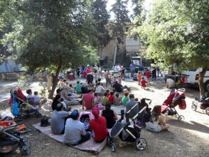 Performance in the community garden